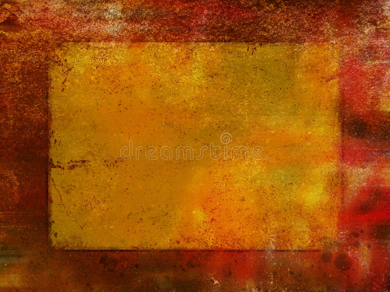 Red rust background with gold leaf