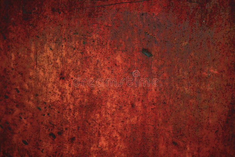 Red rusty metal background royalty free stock photography