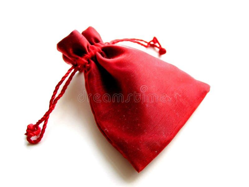 Red sachet white background stock image