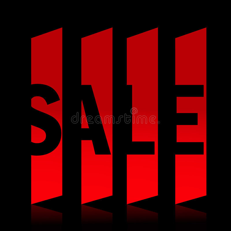 Red Sale Banner Stock Photography
