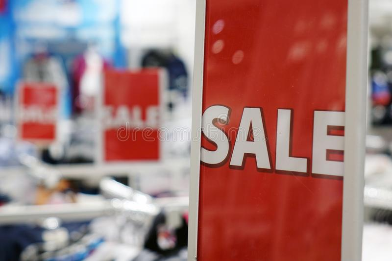 Red sale black Friday. stock photos