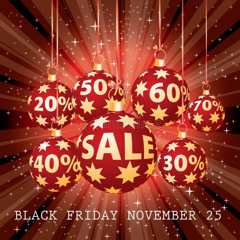 Red sale percent balls royalty free illustration