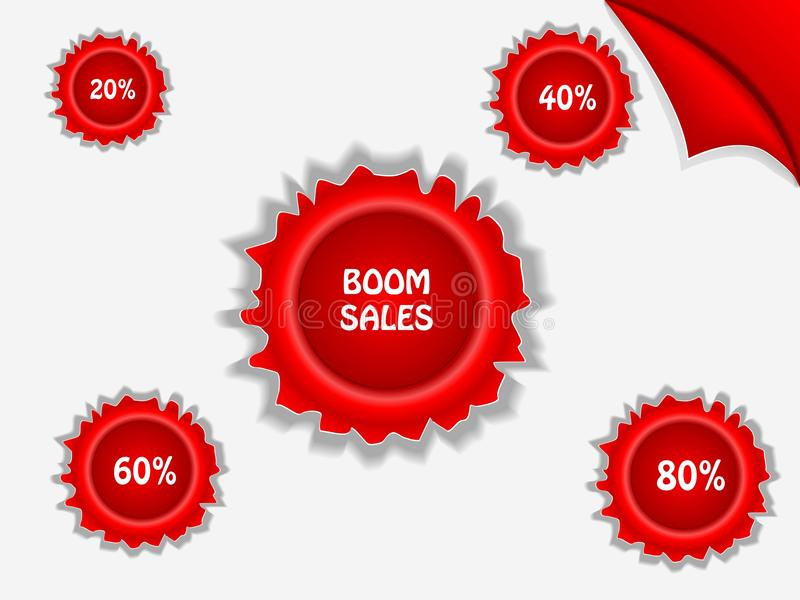 Download Red Sale Poster - Boom Sales Stock Photo - Image: 32285780