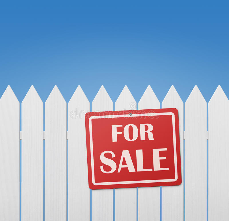 red sale sign at the fence stock image  image of nature