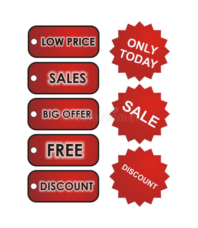 Red Sales Tags stock photography