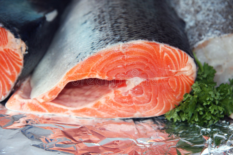 Red salmon stock photography