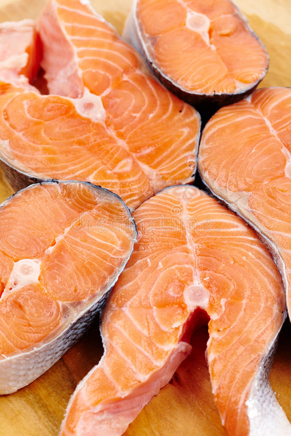 Download Red salmon slices stock photo. Image of food, fish, natural - 28626536