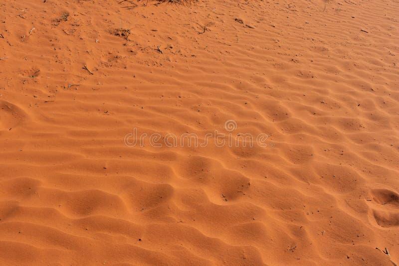 Desert red sand. Monument Valley Tribal Park, USA. Red sand background. Monument Valley desert, Navajo Tribal Park, USA. Sunny day in spring stock image