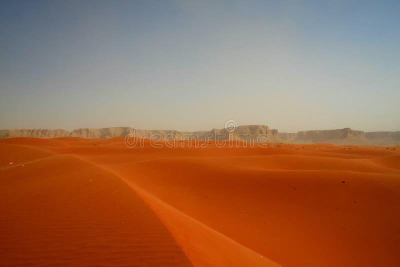 Red sand desert. Red sand Arabian desert near Riyadh, Saudi Arabia royalty free stock images