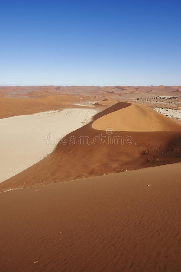 Red sand dune royalty free stock photo