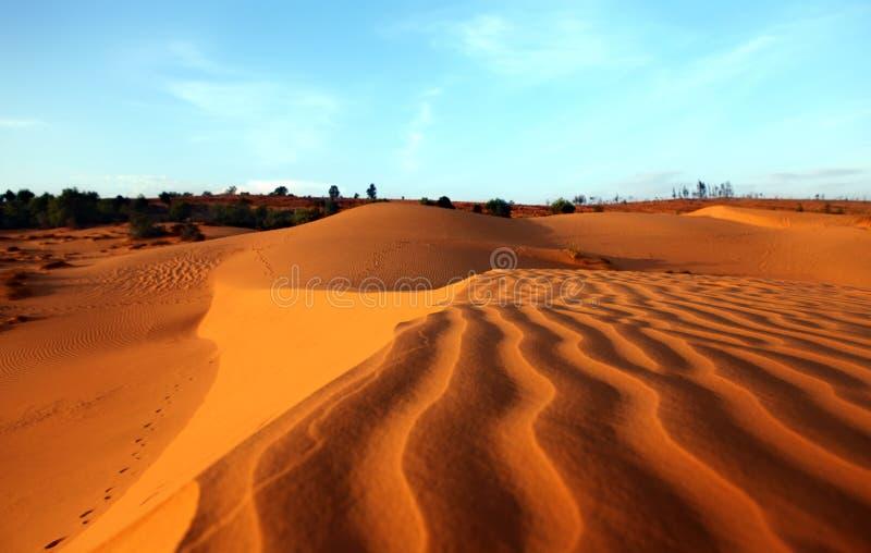Red Sand Dunes. Sunset. Red Sand Dunes Vietnam in Mui Ne, Vietnam. Sunset stock image