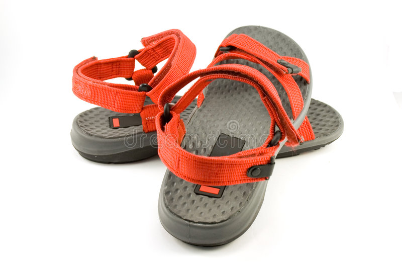 Red sandals stock image