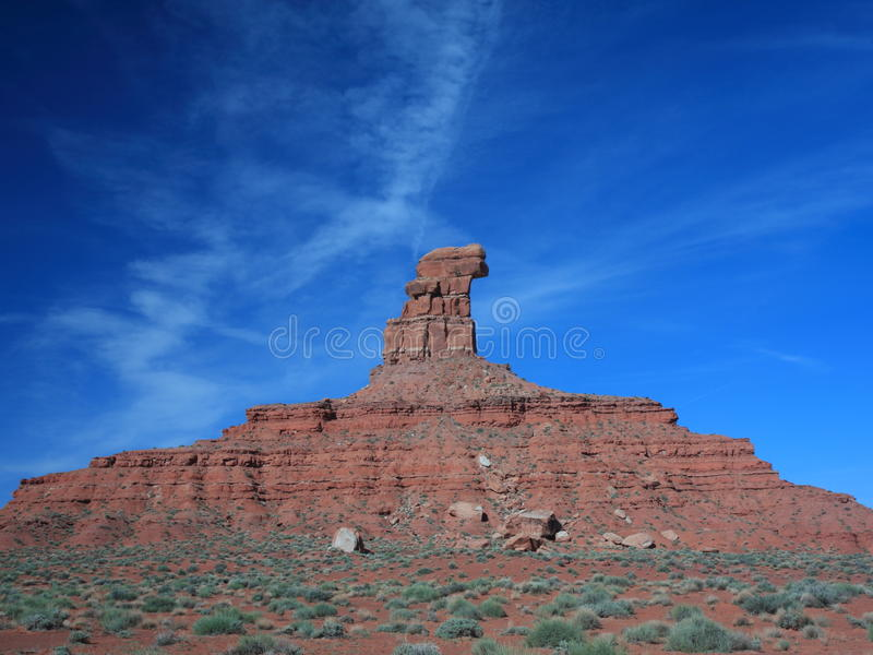 Red sandstone formation