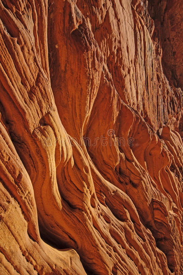 Red Sandstone wall in Daylight