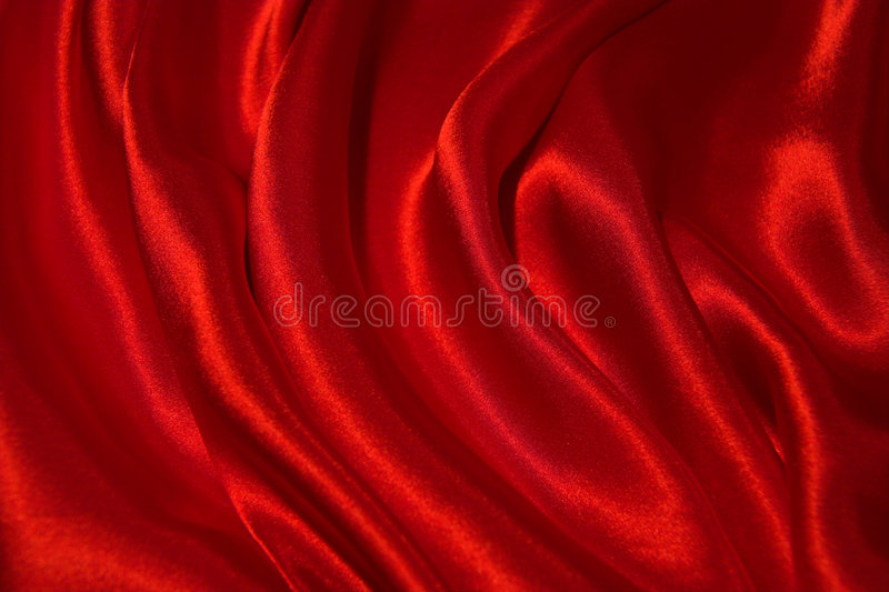 Red satin. A sensuous background of red satin stock photography