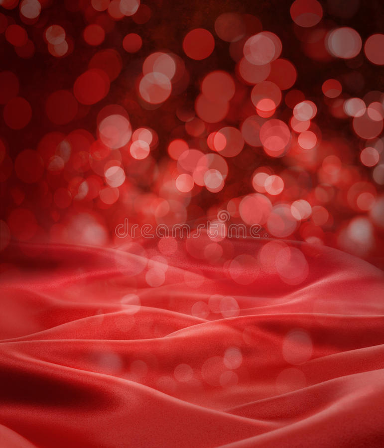 Free Red Satin Christmas Lights Background Stock Photos - 24067403
