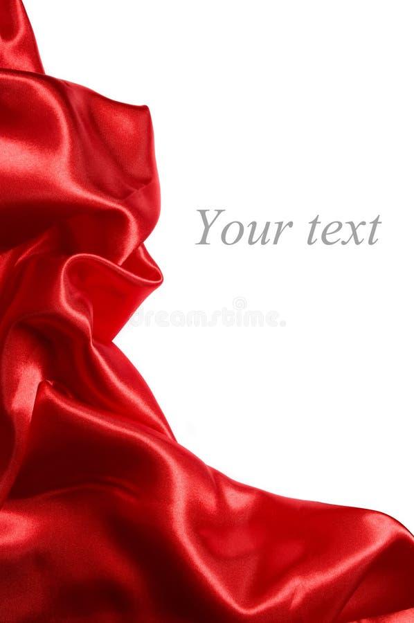 Red satin fabric stock image
