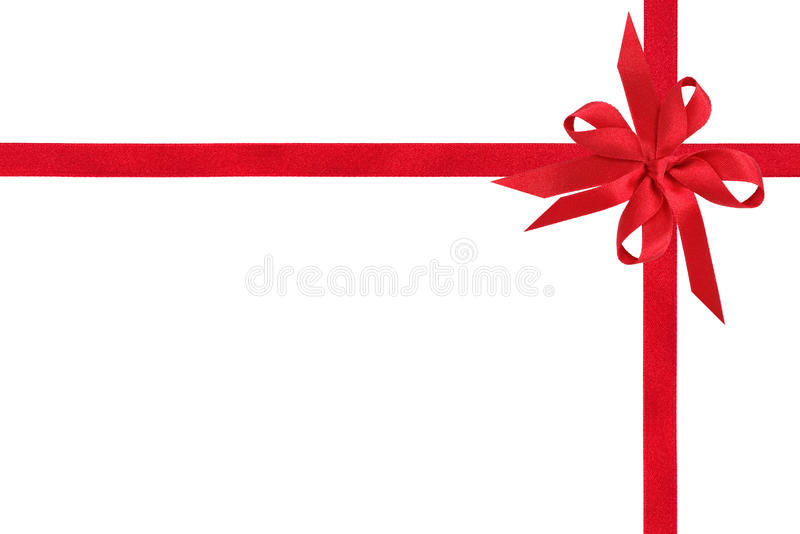Red Satin Ribbon and Bow stock images