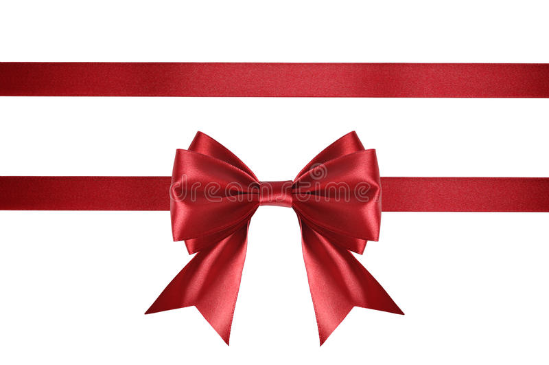 Download Red satin ribbon stock photo. Image of package, festive - 34241018