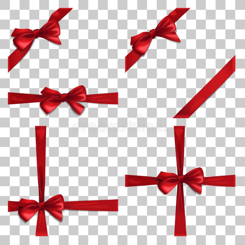 red ribbons and greeting card  bows  new year  birthday