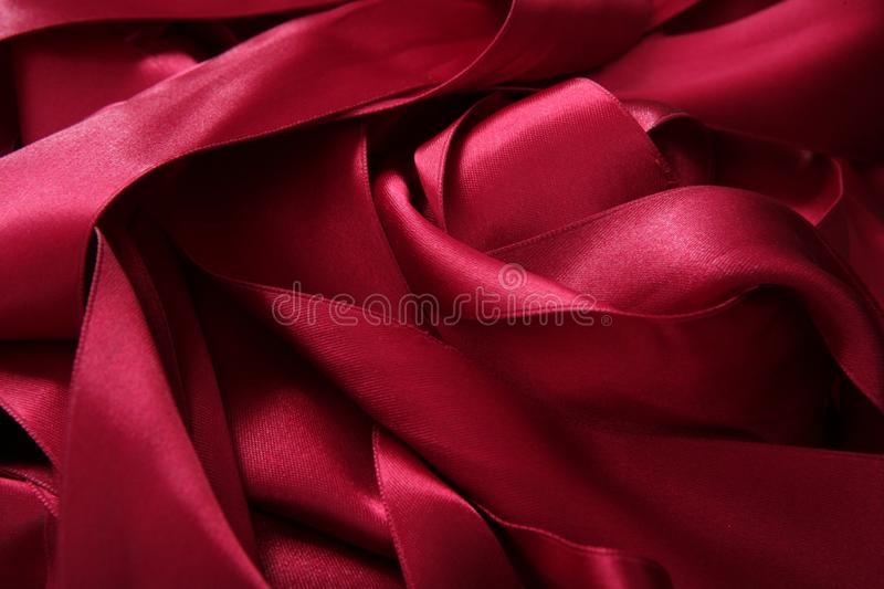 Download Red Satin Ribbons In A Messy Mess Texture Stock Photo - Image: 17313988