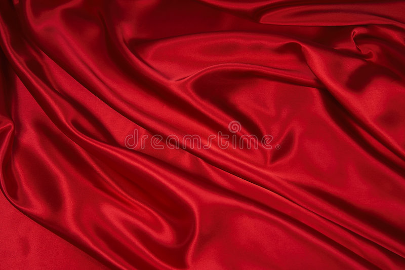 Red Satin/Silk Fabric 1. Luxurious deep red satin/silk folded fabric, useful for backgrounds stock images