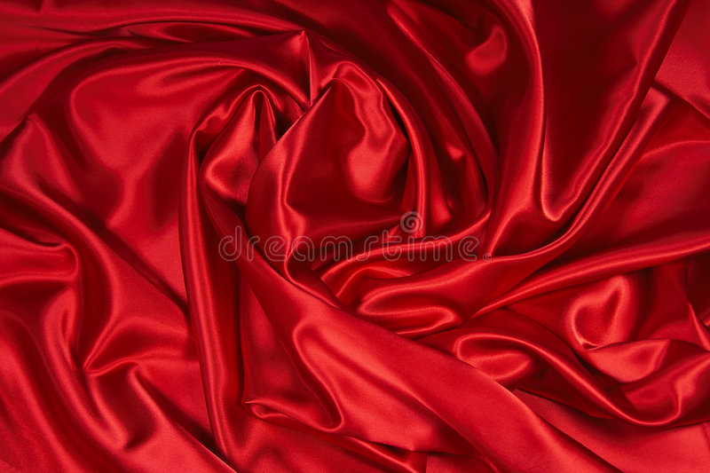 Red Satin/Silk Fabric 3. Luxurious deep red satin/silk folded fabric, useful for backgrounds royalty free stock photos