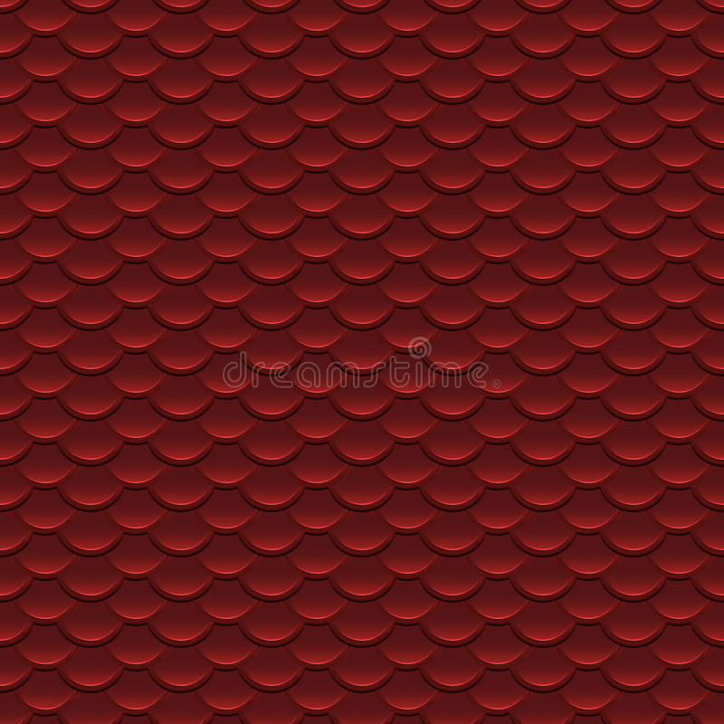 Red Scales Seamless Pattern Stock Photos