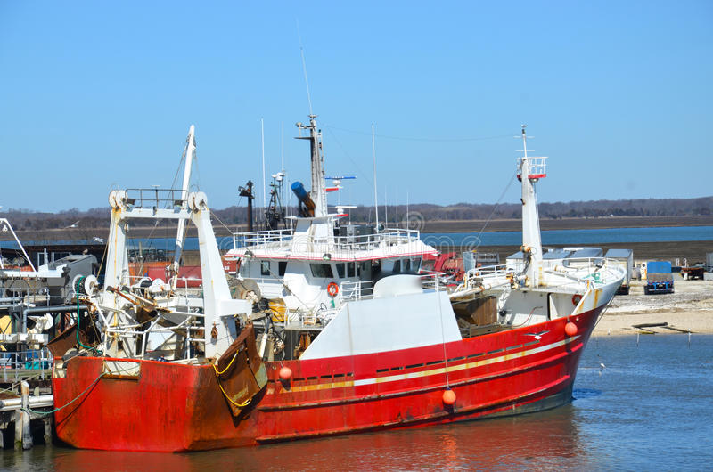 Download Red fishing boat or ship stock image. Image of commercial - 30259197