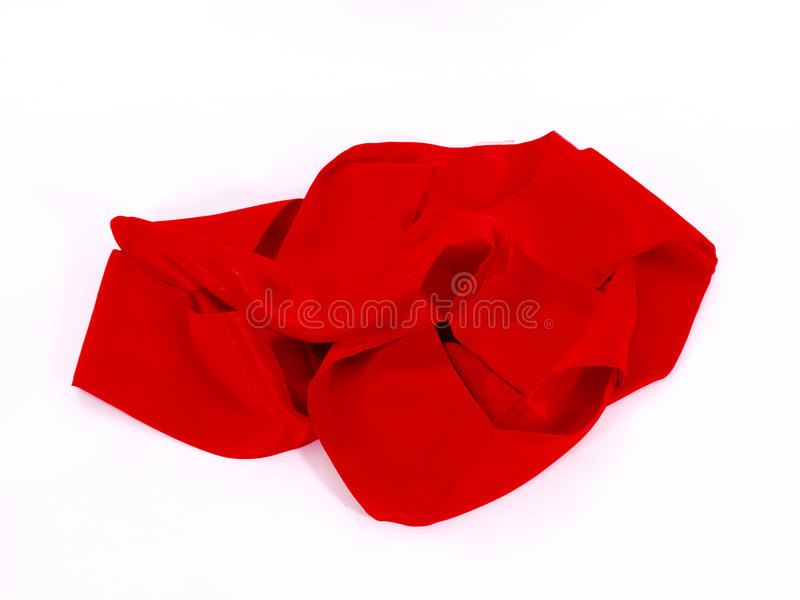 Red Scarf. On White Backround stock images