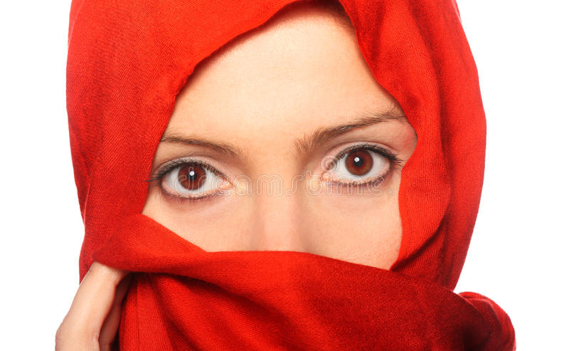 Red Scarf Stock Photos
