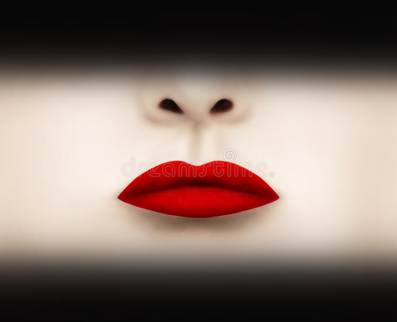 Red Scarlet Lipstick royalty free stock photo