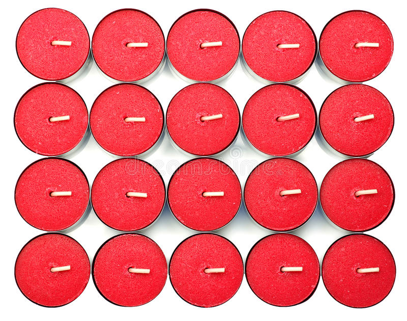 Red Scented Candles Stock Images