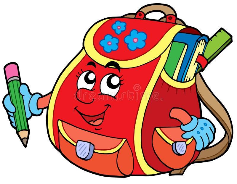Download Red school bag stock vector. Illustration of design, backpack - 8783161