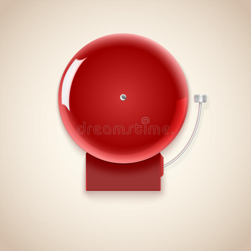 Red school bell. royalty free illustration