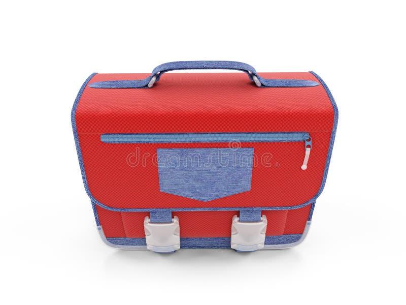 Download Red school rucksack stock illustration. Image of closeup - 7237818