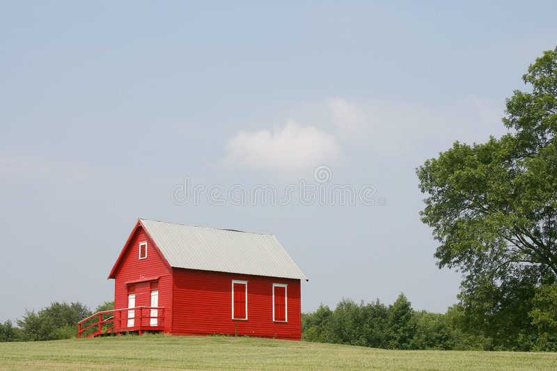 Download Red schoolhouse stock photo. Image of fashioned, retro, education - 12906