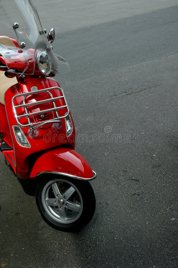 Red Scooter royalty free stock image