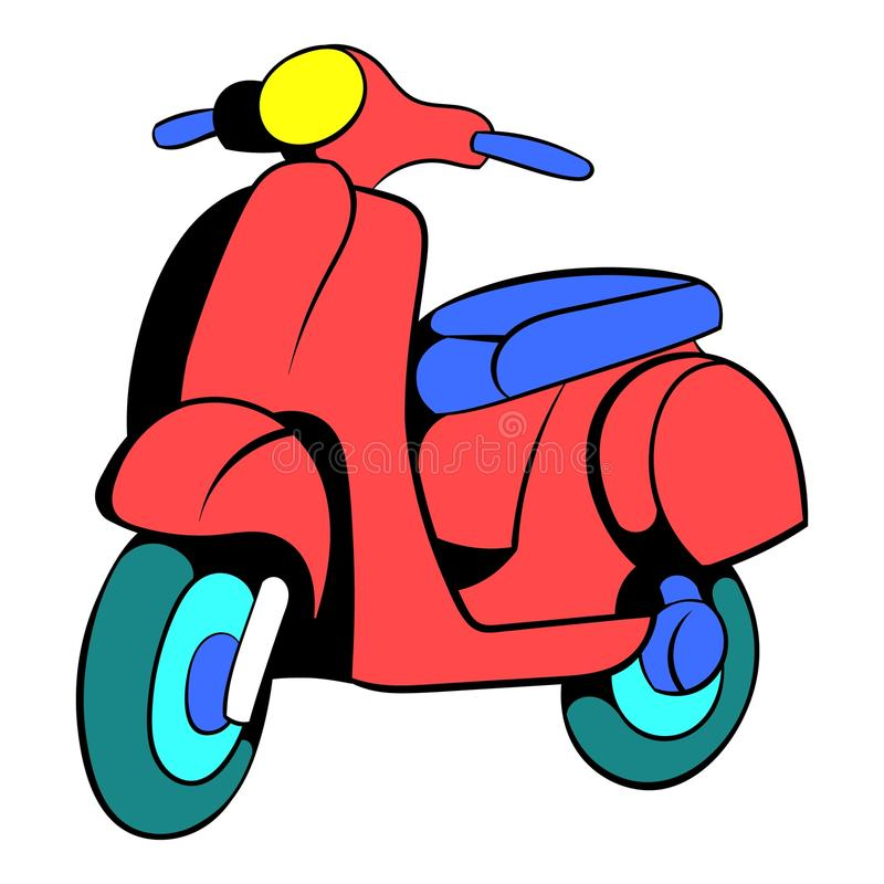 Red scooter icon cartoon royalty free illustration