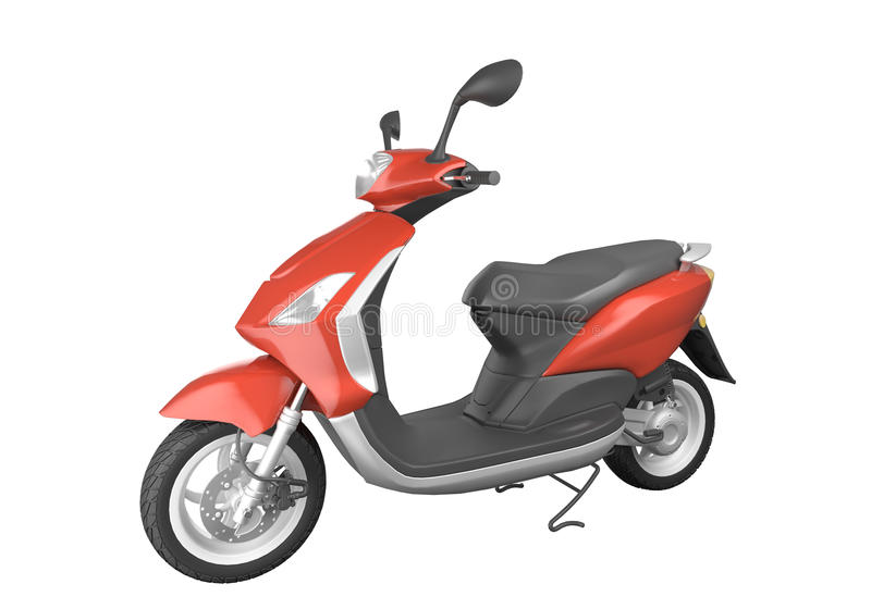 Download Red scooter isolated stock illustration. Image of shot - 9699955