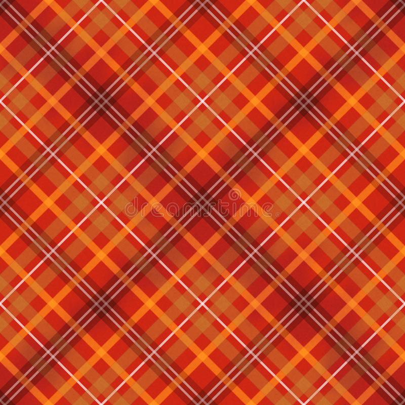 Red scottish checked fabric seamless pattern vector illustration