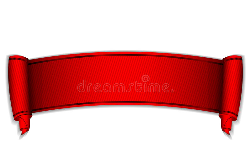 Download Red scroll stock vector. Image of background, contract - 25100568