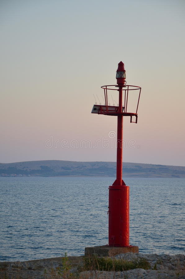 Red sea beacon stock photography