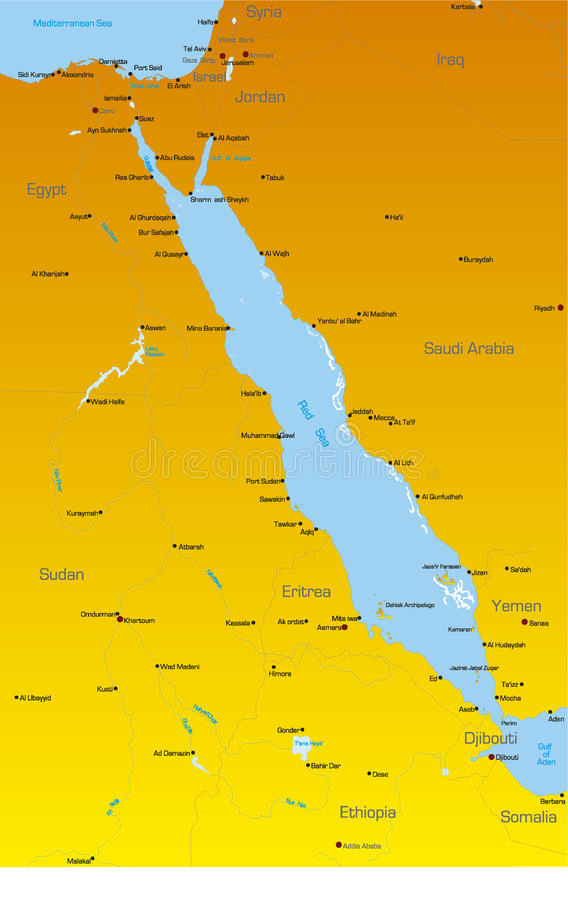 Red Sea Region Countries Stock Photography