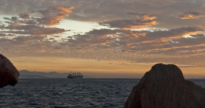Red Sea, Sunset Stock Image