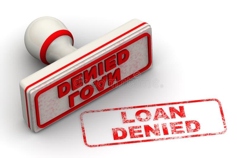 Loan denied. Seal and imprint stock illustration
