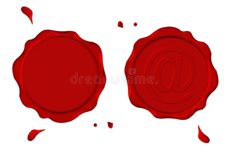 Download Red seals stock illustration. Image of graphic, mailing - 3466313
