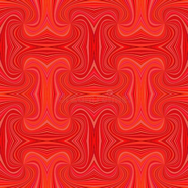 Red seamless abstract psychedelic spiral ray stripe pattern background. Vector illustration stock illustration