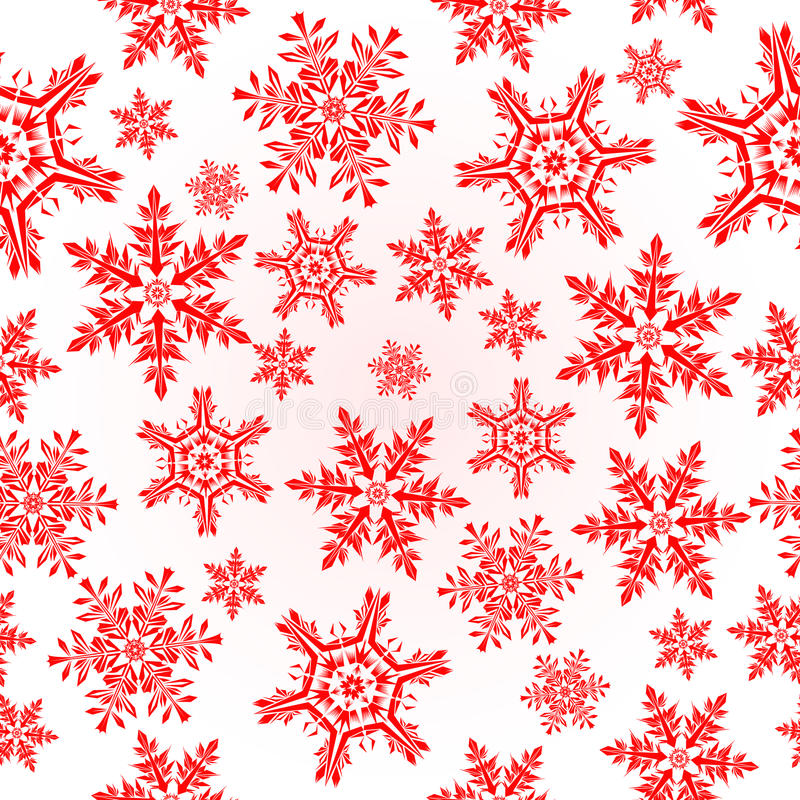 Red seamless background with snowflakes royalty free stock images