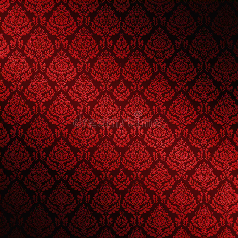 Download Red Seamless Damask stock illustration. Illustration of fashioned - 6203689